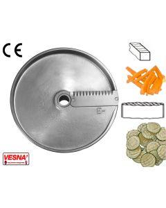 Disco per affettare 10 mm fette ondulate x tutti Chef Ø 205 Celme