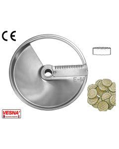 Disco per affettare 14 mm fette ondulate x tutti Chef Ø 205 Celme