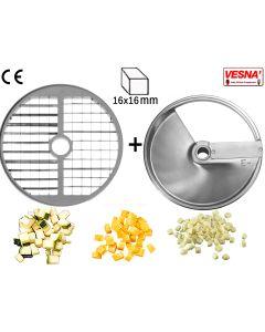 Disco per cubettare 16x16 mm Ø 250 x tutti Chef 600-800 Celme