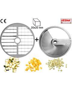 Dischi per cubettare 20x20 mm Ø 250 x tutti Chef 600-800 Celme