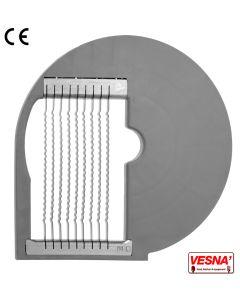 Disco per bastoncini ondulati taglio 8 mm per tutti Chef 600-800 Celme