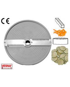 Disco per affettare taglio 6 mm fette ondulate x tutti Chef Ø 205 Celme