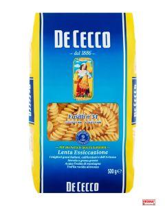 Pasta De Cecco Fusilli n°34 da 500 g semola di grano duro