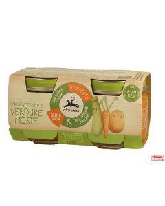 Omogeneizzato verdure miste 2 confezioni da 80 g Biologico Alce Nero