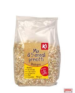 Cereali precotti mix di 5 con riso thaibonnet integrale BIO 400 g
