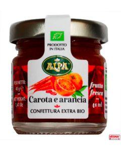 Marmellata di Carote e Arancia in monodosi da 40 g BIO by Alpa