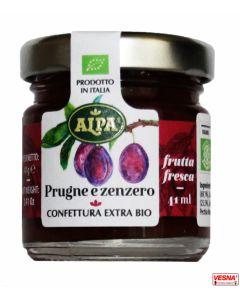 Marmellata di Prugne e Zenzero monodose in vetro da 40 g BIO by Alpa