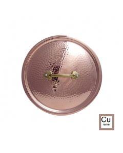 Coperchi in rame cesellato maniglia in ottone stilizzata da Ø 12 a 36 cm