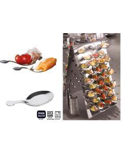 Espositore zakouski 60 pezzi di cucchiaini