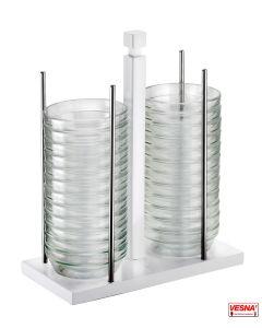 Porta ciotole 24 Pezzi di ciotole in vetro da Ø 12 cm Pitntinox