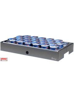 Vassoio refrigerato porta yogurt 22 spazi Base/carbone