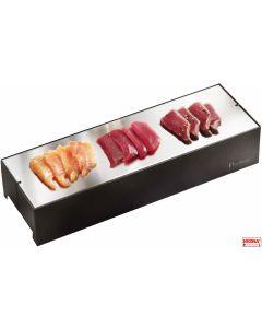 Piastre espositori small acciaio inox refrigerate in 4 colori Pinti Caleido