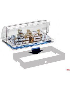 Vassoi per burro e marmellata refrigerato completo base opzione colore Pintinox
