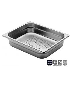 Bacinelle Pinti inox forate Gastronorm 1/2 h da 20 a 200 mm