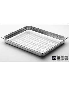 Bacinelle inox forate Gastronorm 2/1 h da 20 a 200 mm