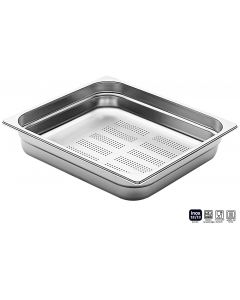 Bacinelle forate Pinti inox Gastronorm 2/3 da h 20 a 150 mm