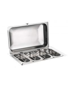 Porta verdure refrigerato inox 18/10 senza base Buffet