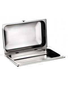 Pinti chafing dish rettangolare inox 18/10 GN 1/1 con frizione senza base