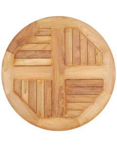 Piano per esterno in legno Teak Ø 80 cm