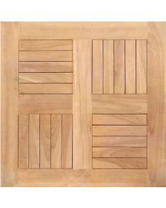 Piano per esterno in legno Teak cm 60 x 60