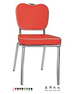Sedia in acciaio cromato seduta ecopelle