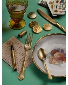 Pinti Posate Settecento Gold Stone Washed spessore 3 mm Pinti