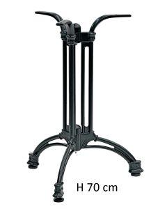 Base in stile alluminio verniciato nero H 70 cm