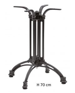 Basamento per tavolo stilizzato 4 gambe, verniciato H 70 cm