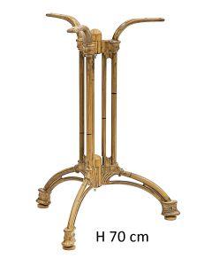 Basamento in alluminio verniciato bambù H 70 cm