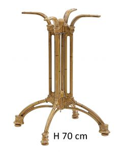 Basamento 4 gambe verniciato bambù H 70 cm