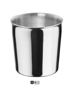 Bicchiere in acciaio inox 18/10 comunità circondariale cm Ø 7,9 x h 7,9 Lt. 0,29