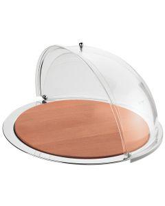 Piatto formaggi con cupola apribile e tagliere in legno cm 47,5 Pinti