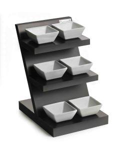 Espositore per aperitivo 3 piani con 6 ciotole cm 25x20x29h Trandy bar