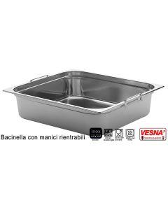 Bacinelle Pinti inox con maniglie rientranti Gastronorm 1/2 h da mm 100 a 200