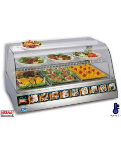 Vetrina refrigerata da banco con 3 bacinelle opzione GN 1/1-1/2-1/3-2/3