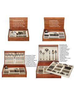 Posate da 24 a 126 pezzi Inox 18/10 con Bauletto Beta Pinti