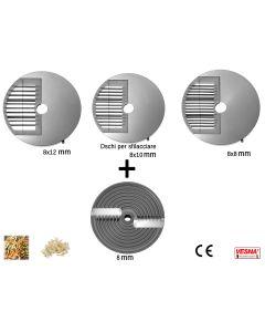 Dischi per sfilacciare da abbinare con il disco da taglio 8 mm x Chef Pizza Ø 205 Celme