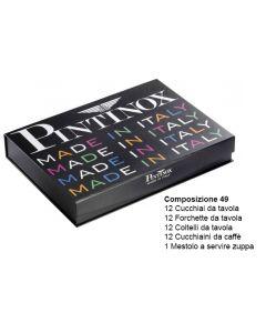 Posate Romanino da 49 pezzi forgiato Inox 18/10 con scatola Iride