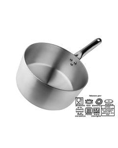 Casseruola cm 28 professionale in alluminio spes. 3 mm un manico inox