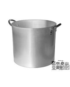 Pentola in alluminio 3 mm professionale con maniglie inox Ø:46:h:43:cm:Lt:42