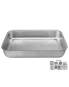 Lasagnera alluminio professionale da 50 h 10 cm spessore 3 mm 2 maniglie snodabili