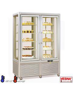Vetrina frigo  per gelateria e pasticceria temperatura positiva e negativa