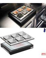Ciotole ceramica 6 pezzi con supporto refrigerante Pinti