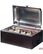 Chafing Dish professionali riscaldati senza energia elettrica opzione colori Salvia, Burro, Caffè, Carbone