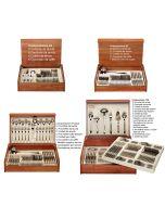 Posate inox 18/10 collezione Stresa da 24 a 126 pz con bauletto in legno Pinti