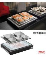 Espositore refrigerato con 5 ciotole in ceramica