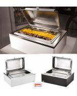 Pinti chafing dish GN 1/1 cm46x64x30h riscaldato Bianco o Wengè